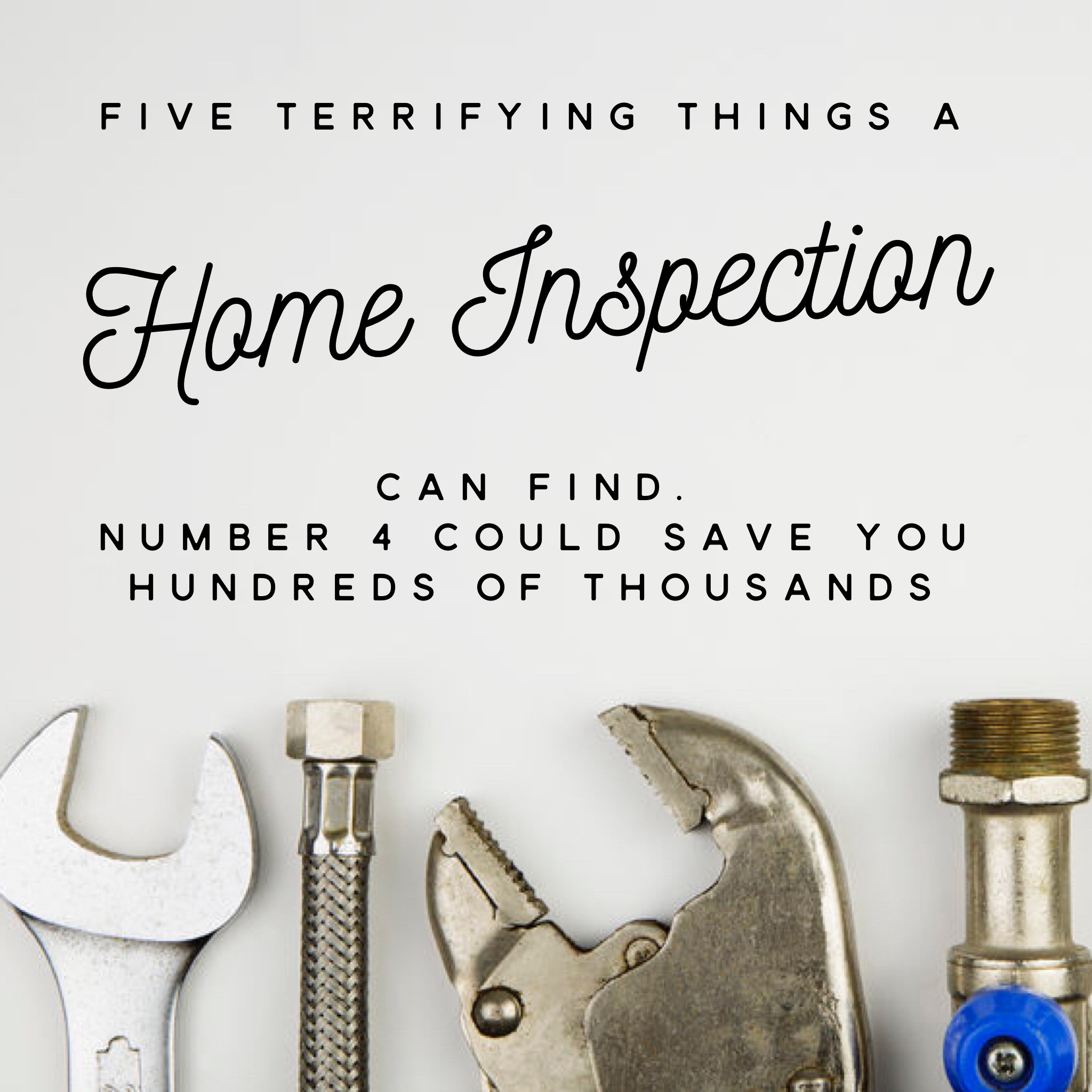 Five Terrifying Things A Home Inspection Can Find. Number 4 Could Save You Hundreds Of Thousands!