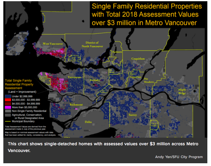 B.C.'s New Taxes On $3M Homes Could Lean Hard On Vancouver's West Side, Maps Show
