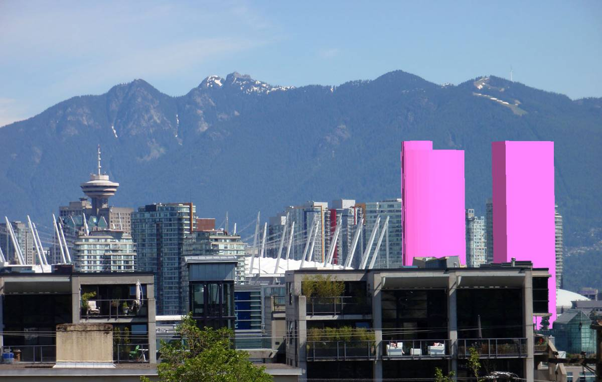 Website Rouses Opposition To Proposed Northeast False Creek Towers' Impact On Views Of North Shore Mountains