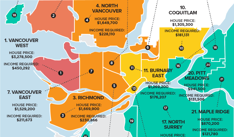 Exactly How Unaffordable Are Metro Vancouver's Detached Homes? (INFOGRAPHIC)