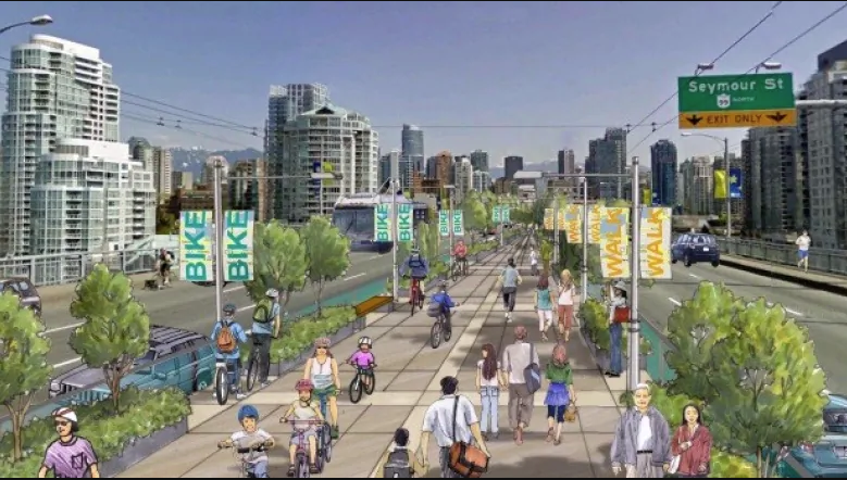Granville Bridge Re-design Would Halve Number Of Car Lanes For Central Greenway