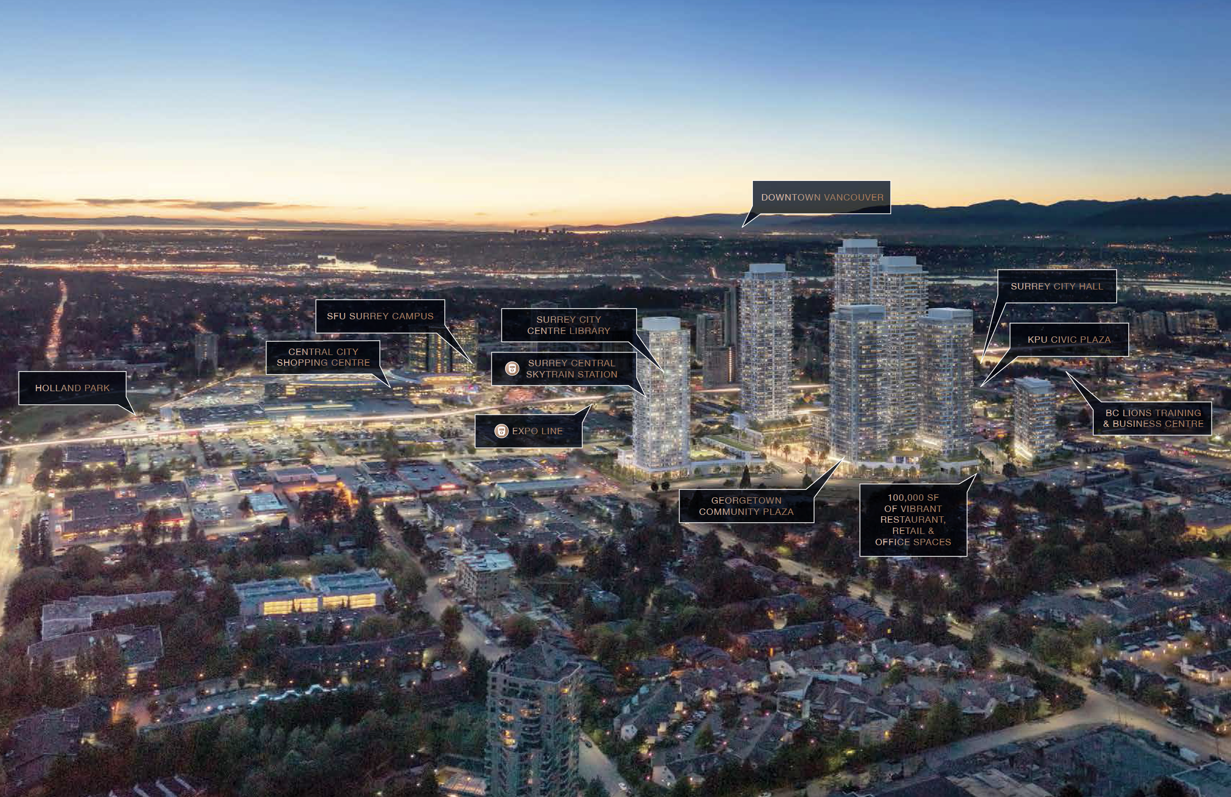 Georgetown One In The Heart Of Surrey City Centre From