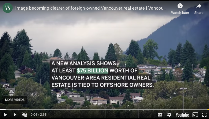 Dan Fumano: A $75-billion Snapshot Of Foreign-owned Vancouver Real Estate