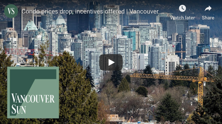 Vancouver Sun Video about the real estate market stats
